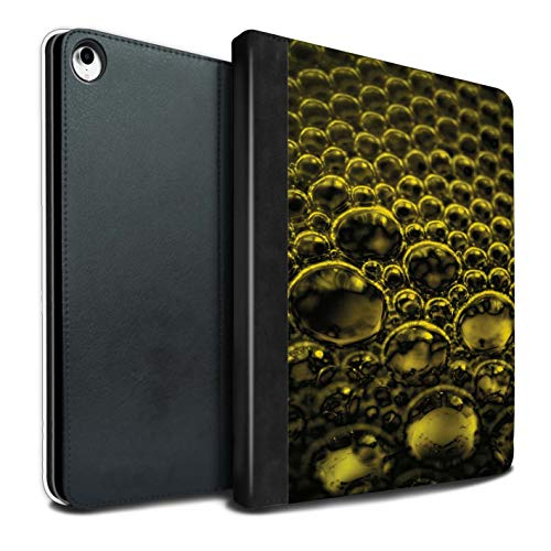 eSwish PU Boek/Over/Case/IP-TSB/Bubbles/Droplets Collectie Apple iPad Pro 12.9 2018/3rd Gen Geel