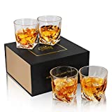 KANARS Bicchieri Whisky, Bicchiere Cocktail e Whiskey Cristallo, 300ml, Set di 4 Pezzi, Be...