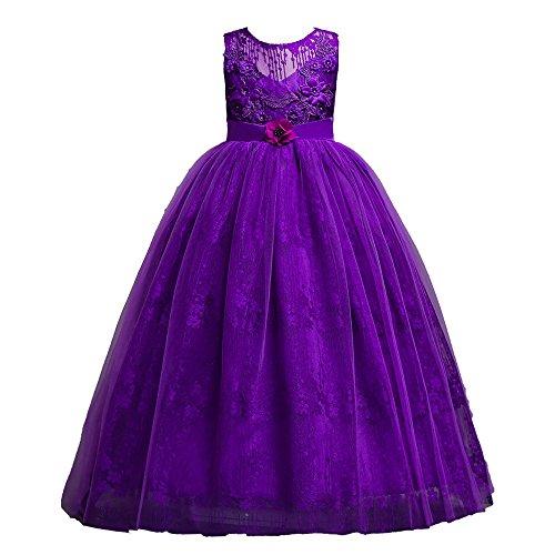 12shage Enfant Filles Mariage Robe De Mariée En Dentelle Robe De Soirée Robe Formelle Vêtements