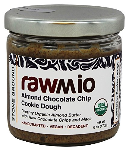 Rawmio Almond Chocolate Chip Cookie Dough Spread with Maca 6 oz 170 g