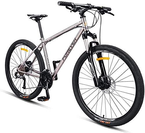 Adulte montagne Vélos, 27,5 pouces Cadre en acier Hardtail VTT, Freins à disque mécanique Vélos Anti-Slip, Hommes Femmes tout terrain Vélo de montagne