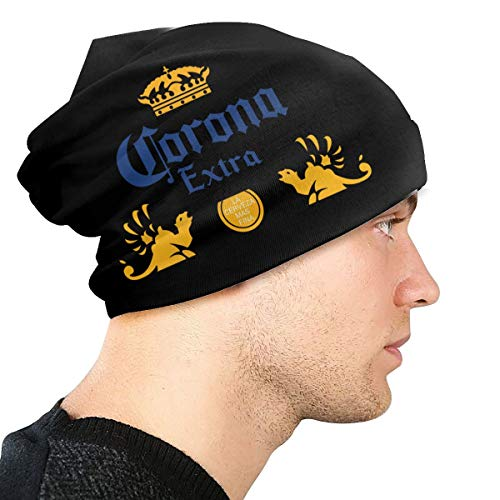 OUG Crap Handicap - Gorro de punto para hombre, diseño de hombre Amarillo Cerveza Extra Corona Taille unique
