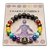 Wiccan Star Double Chakra Bracelet en Pierre Naturelle Reiki Charme. avec la Carte de...