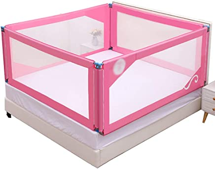 WANNA ME Baby Playpen Baby anti-fall bed guardrail baffle newborn infant child prevention big bed fence baffle Strong And Durable Made From Non-To  color Four-sided fence  Size 150 190cm