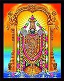 Handicraft Store Lord Balaji/Tirupati Balaji/Venkateswara/Lord Vyankatesh with Goddess Laxmi/Lakshmiji with Balaji, A Religious Poster Painting for Wealth. Prosperity Home and Office for Good Luck