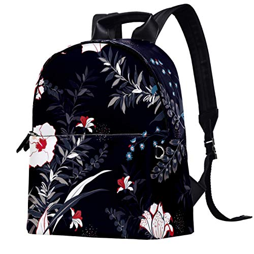 Travel,Hiking Backpack Laptop Backpack, Colorful Floral Print Bright Print Casual Large Capacity School Bag for Men Women for Work Office College Business Travel