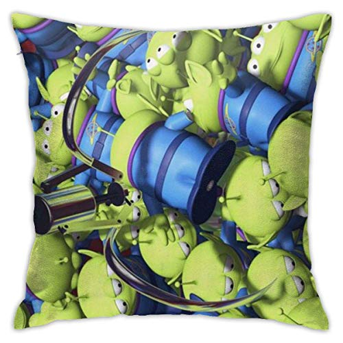 DHGER Throw Pillow Covers 18'X 18'inch- Alien-Square Shape Decorative Cushion Cover For Couch Sofa Pillow Set