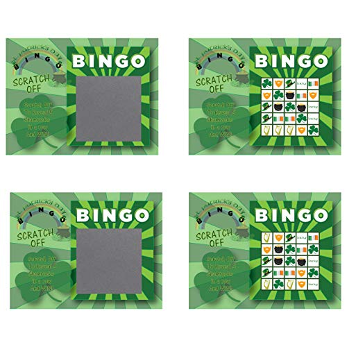 My Scratch Offs St. Patrick's Day Scratch Off Game Cards 26 Pack (Bingo)
