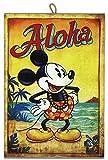 Cuadro de Estilo Vintage Serie Cómics Mickey Mouse de Colección Impresión Láser Sobre Madera – Idea Regalo