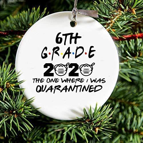 Monsety Quarantined 6th Grade Class of 2020 Christmas Ornament Gift,Quarantine Gift,Graduate,Graduation Gift?