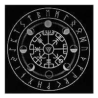 NUOBESTY 祭壇タロットカード布占星術タロット占いテーブルクロス12星座五芒テーブルクロスタペストリースタイル2