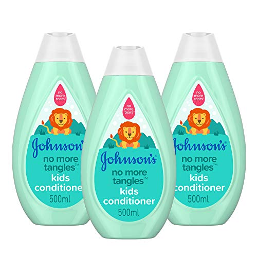 JOHNSON'S No More Tangles Kids Shampoo Multipack – Leaves Hair Soft, Smooth and Easy-to-Comb - pH Balanced - 3 x 500ml