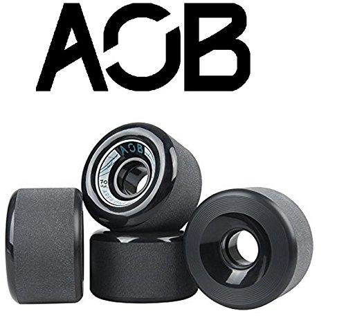 AOB Longboard Rollen Banshee 70mm, 78a, orange/schwarz/blau (Schwarz)