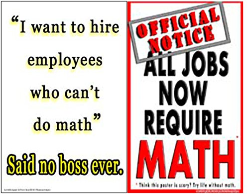 Poster #S1 Motivational Math Poster Set: Motivates Unmotivated Middle, High School Students