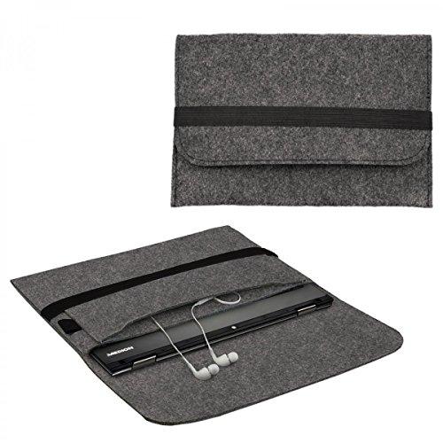 eFabrik vilten hoes voor Medion Akoya E2216T case Ultrabook laptop hoes soft cover beschermhoes sleeve vilt donkergrijs