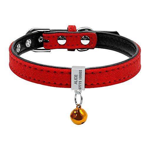 Berry Pretty - Collar para mascota acolchado personalizado, grabado antideslizante, ideal para cachorros pequeos perros y gatos