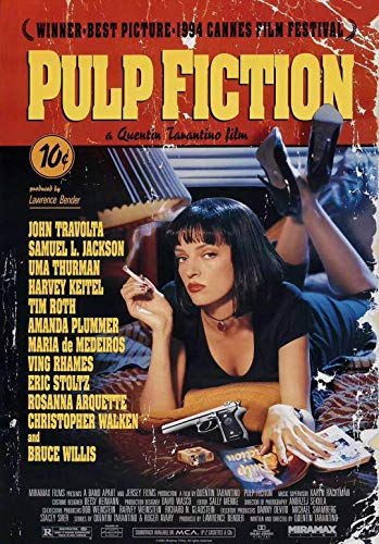Tainsi Film di Pulp Fiction (Cover) Poster(11x17inch,28x43cm)