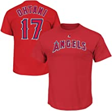 Shohei Ohtani Los Angeles Angels MLB Majestic Boys Youth 8-20 Red Alternate Official Player Name & Number T-Shirt