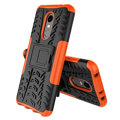 MRSTER Xiaomi Redmi 5 Plus Hülle, Outdoor Hard Cover Heavy Duty Dual Layer Armor Hülle Stoßfest Schutzhülle mit Ständer Handyhülle für Xiaomi Redmi 5 Plus. Hyun Orange