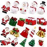 Hemoton 20 Peças de Resina Enfeites de Natal de Fadas Jardim de Natal Acessórios Boneco de Neve Santa Miniaturas Estatueta para Decoração de Casa de Bonecas Micro Paisagem