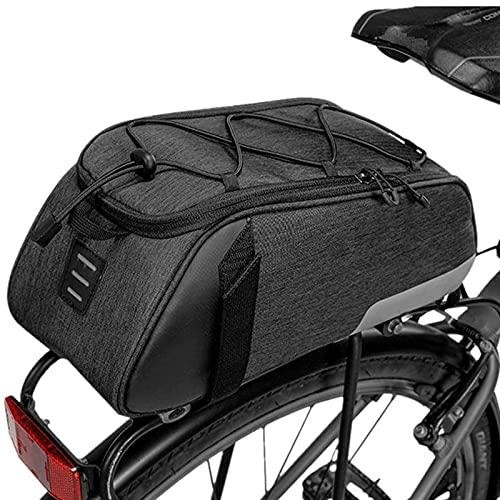 SWIPA Bicicleta Bicicleta, bicicleta resistente al agua Asiento trasero de la bicicleta Pannier Tronco de carga de la bolsa de ciclismo Bolso de pecho con capacidad de 8L Capacidad Multi Pocket Loop p