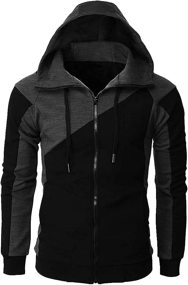 Men's Hooded Coats Hop Zipper Male Keep Hoodie Male Clothing Outerwear -