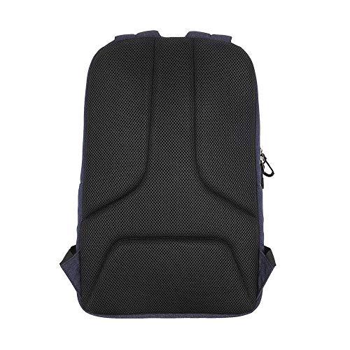 Men's Knapsack PROWELL Laptop Knapsack Larger Store Shock Absorbing Outdoor Shoulder Bag 15.6in Polyester Knapsack (Color : Black)