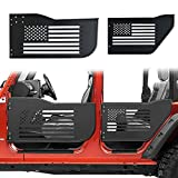 Bolaxin Front & Rear Half Tube Door Compatible for Jeep Wrangler 2007~2018 JK Unlimited 4 Doors USA Flag Logo...