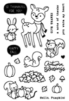 Deer happy fall Transparent Clear Silicone Stamp Seal DIY Scrapbooking photo Album Decorative A0651