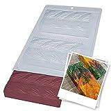 BWB 9993 Molde Especial 3 partes Tabletas Trenza con silicona para chocolate caliente de 2 Agujeros 70-250g Policarbonato Tridimensional Transparente
