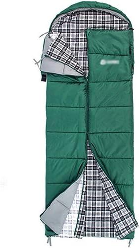 Sac de couchage RKY Sac de couchage - Tissu en polyester de grille de football 230T, l'adulte peut atteindre et laver le sac de couchage de camping pour les voyages en plein air quatre saisons, convie