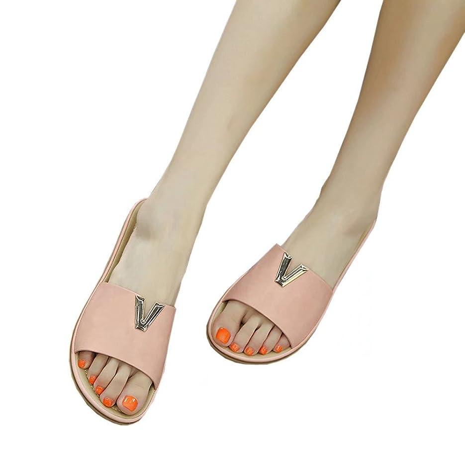 後方技術アラスカ【ユウエ】サンダル レディース ビーチサンダル ローヒール 歩きやすい 大きいサイズ 女性用サンダル 靴 018-jxfxc-858-2(22.5CM ピンク)