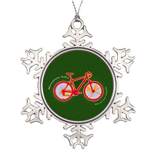 Cukudy Boomtak Decoratie Cyclus Beste Kerstmis Sneeuwvlok Ornamenten Mountainbike