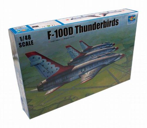 Trumpeter 02822 F-100D in Thunderbirds Livery Kit de modélisme