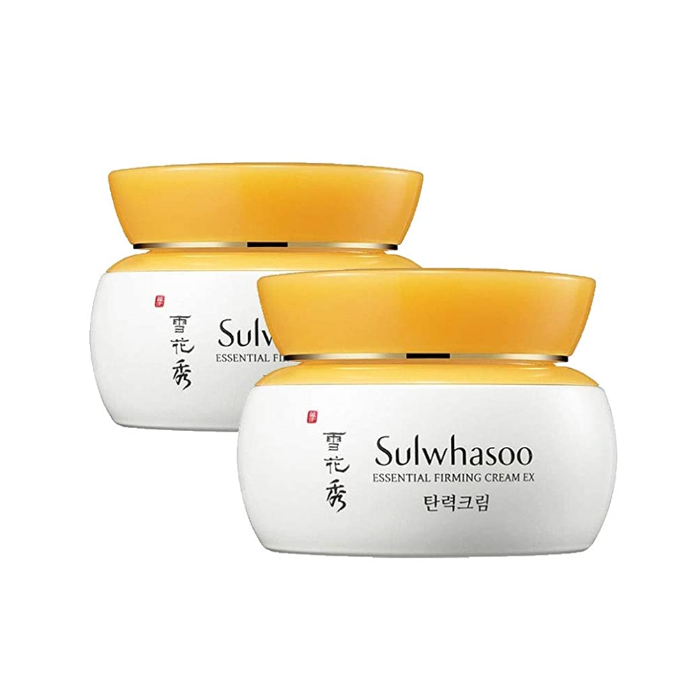 スチール義務更新する雪花秀エッセンシャルパーミングクリーム 75mlx2本セット弾力クリーム韓国コスメ、Sulwhasoo Essential Firming Cream 75ml x 2ea Set Korean Cosmetics [並行輸入品]
