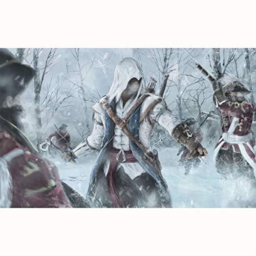 FENGZI Assassin Creed Jigsaw Puzzle para Adultos intentando Youngs 300/500/1000/1500 Pieza Difícil Juego desafiante (Size : 300Pieces)