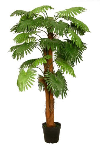 McPalms künstliche Fächerpalme 1,80 m Kunstpalme Kunstbaum Kunstpflanze Palmenbaum