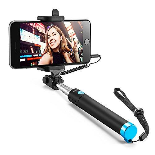 Bastone Selfie Anker - Selfie Stick con Asta Estendibile fino a 80cm e Cavo Jack per iPhone, Galaxy, e Altri