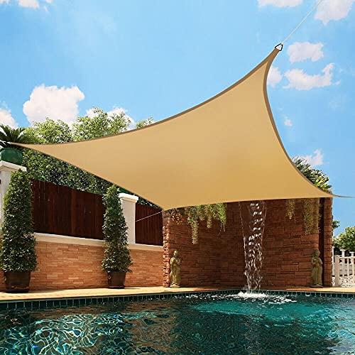 QNMD Toldos De Protección Solar para Exteriores, Toldos para Jardín, Toldo, Piscina, Partio, Playa, Toldo para Acampar, 200Cmx400Cm