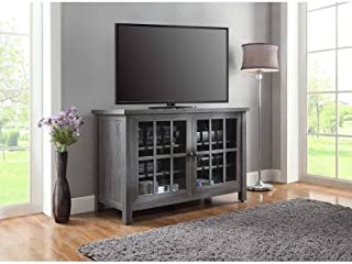 """Better Homes and Gardens Oxford Square TV Stand and Console is Designed to Accommodate Flat Panels TVs up to 55"""" up to 135 lbs (Gray)"""