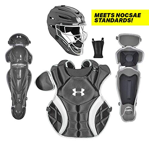 Under Armour PTH Victory Series Catching Kit, Meets NOCSAE, Ages 9-12, Black