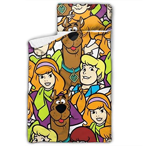 ZAOJ0JHII Scooby Doo Siesta - Juego de alfombrillas con almohadas y mantas de lana, apto para niños y niñas, tamaño 127 x 50 cm, diseño plegable con asa