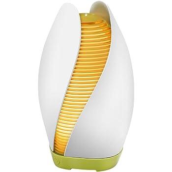 MANLI Diffusore di Oli Essenziali Ultrasuoni 110ml, Umidificatore Ambiente con Luce LED Diffusore di Aroma Fragranze Profumatore Ambiente Elettrico