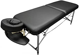 DevLon NorthWest Portable Aluminum Massage Table Francis 26 Wide Light Weight Black Table