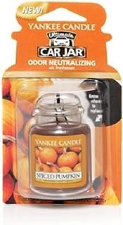Yankee Candles Spiced Pumpkin car jar Ultimate Air Freshener, Festive Scent