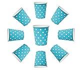 Bicchieri di cartone da 200ml, usa e getta, per bevande calde e fredde, per snack, colore blu, 50 pezzi
