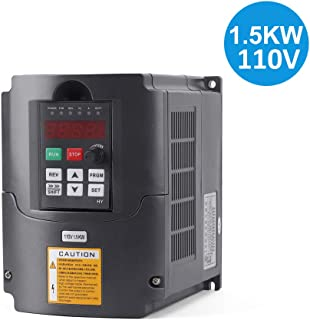 VFD 1.5KW/110V 3hp Variable Frequency Drive CNC VFD Motor Drive Inverter Converter for Spindle Motor Speed Control (1.5KW/110V)