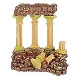 UKCOCO Decoración para acuario, 1 unidad, emulación de columna romana, joyas creativas de resina