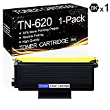 1 Pack TN-620 Black TN620 High-Yield Toner Compatible Toner Cartridge Replacement for Brother HL-5240 HL-5250DNT HL-5270DN HL-5250DN MFC-8370 MFC-8460N MFC-8670DN DCP-8060 DCP-8065DN Printers.