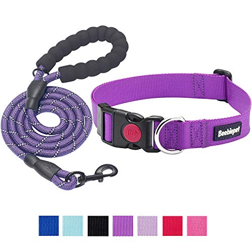 beebiepet Classic Nylon Dog Collar with Quick Release Buckle Adjustable Dog Collars for Small Medium...